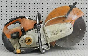 Stihl Ts420 Concrete Saw Gas Powered Heavy Duty Tested Works Great