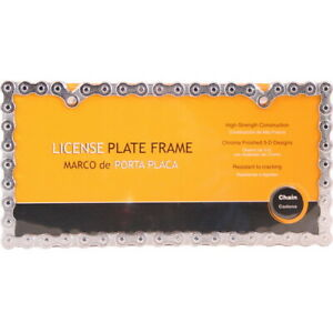 License Plate Frame Chrome Motorcycle Chain Look
