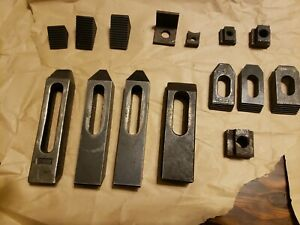 16 Pc Assorted Lot Machinist Hold Down Step Down End Clamps Set Up Blocks