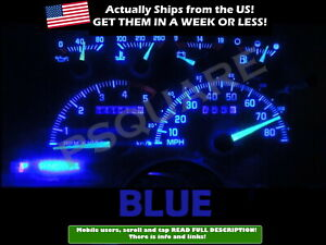 Gauge Cluster Led Dashboard Bulbs Blue For Chevy Gmc 92 94 C k Series Truck