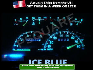 Gauge Cluster Led Dashboard Bulbs Ice Blue For Chevy Gmc 92 94 C K Truck