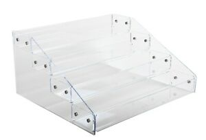 Acrylic Display 3 Or 4 Tiers Counter Top Tray Display Knockdown Bin Stand