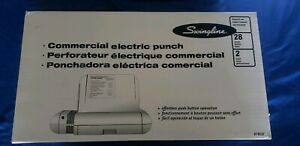 Swingline Commercial Electric 2 Hole Punch 28 Sheet Model 74532