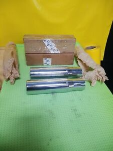 1970 71 Nos Torino Cobra Chrome Exhaust Extension Tail Pipe D0oz 5255 a Pair