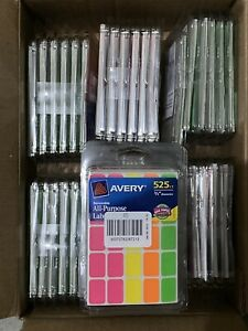36 Pack Avery Color Coding Labels 1 2 x 3 4 Rectangular Removable Assorted Neon