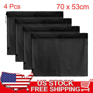 4 Pcs 70 X 53cm Car Side Window Sun Shade Polyester Mesh Curtain Uv Protection