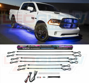 Ledglow Blue Smd Led Truck Neon Underglow Lights Kit W 6 Tubes 160 Leds