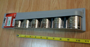 Usa Made Craftsman 1 2 Drive Large Metric Socket Set 6pc Easy Read Laser Etched