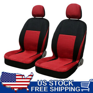 Universal 8 Piece Fabric Cloth Car Seat Covers With Headrests Full Set