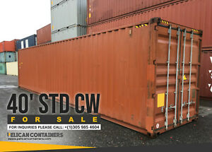 40ft Std Cargo Worthy Shipping Container 40 Storage Container In Houston Tx