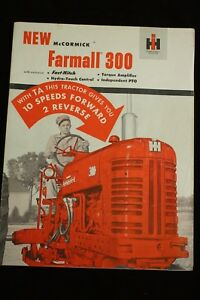 Ih Mccormick Farmall 300 W Fast Hitch Tractor Implement Color Brochure 32pgs