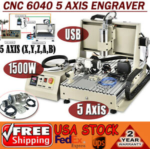 5axis Cnc 6040 Router Usb 1 5kw Engraver Engraving Metalworking Milling Machine