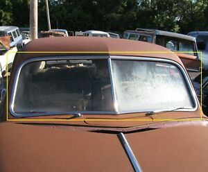 1949 Dodge Coronet 2 Door Club Coupe Stainless Steel Windshield Moulding