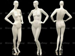 High Glossy White Female Mannequin Abstract Fashion Style Display mc anna03