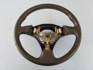 2001 2002 Toyota Corolla S Steering Wheel Black Red Stitching No Cruise Control