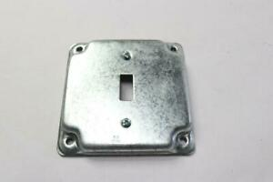 Qty 23 Square Metal Electrical Box Cover For Single Toggle Switch Receptacle