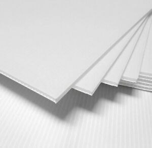 25 Pack Corrugated Plastic 18x24 4mm White Blank Sign Sheets Coroplast