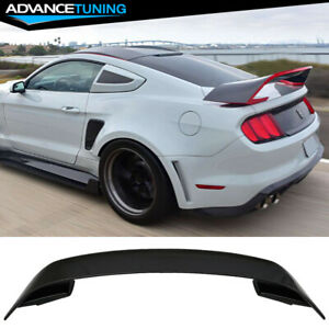 15 20 Ford Mustang Gt350 Style V2 Rear Black Trunk Abs Spoiler Wing 2015 2016