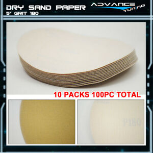 Disc 180 Grit 5 Auto Sanding Paper Sheets Repair Sandpaper Magic Tape 100pc