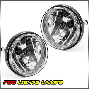 Clear Front Bumper Fog Lights Lamps Left Right For 07 13 Gmc Sierra 1500 2500
