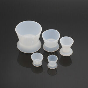 5pcs set Dental Lab Silicone Mixing Bowl Cup For Dentistry Clinic Supplies