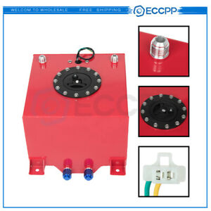 Eccpp High Grade 5gallon Aluminum Racing Drift Fuel Cell Tank level Sender Red