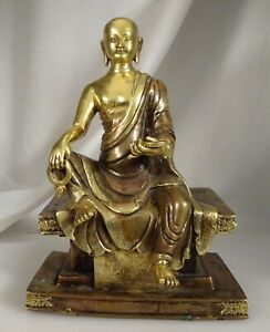 Antique Chinese Tibet Bronze Gilt Buddha 58003