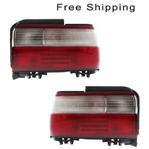 Tail Lamp Assembly Set Of 2 Lh Rh Side Fits Toyota Corolla Sedan 1996 1997