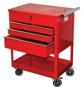 Atd Tools 7045 Professional 4 Drawer Service Cart Red