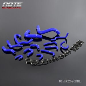 For Toyota 1990 1995 Pickup 3 0l V6 91 92 Blue Silicone Radiator Hose Clamps Kit