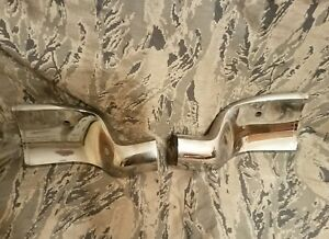 1959 Chrysler Imperial Front Upper Inner Fender Chrome Trim Moldings Lh Rh Oem
