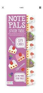 Ooly Note Pals Sticky Tabs Cute Cakes School Classroom Office New