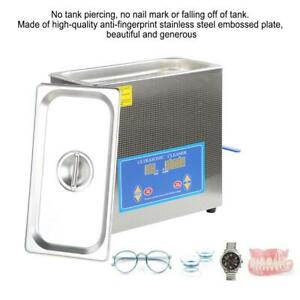 New Stainless Steel 6 5 Liter Industry Heat Ultrasonic Cleaner Heater W timer