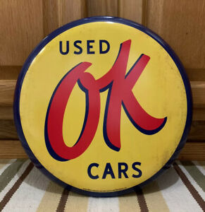 Ok Used Cars Chevrolet Coke Vintage Style Decor Parts Gas Oil Garage Dealer