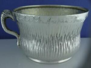 Sterling Tiffany Co Cup Mug Aesthetic W Hammered Finish Acid Etched C1883