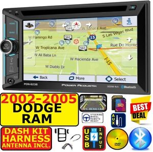 2002 2005 Dodge Ram Navigation Bluetooth Cd dvd Usb Aux Sd Car Radio Stereo Pkg