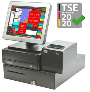 Pro Register System Fujitsu Touchscreen Display Rs 232 Usb Pos Single Catering