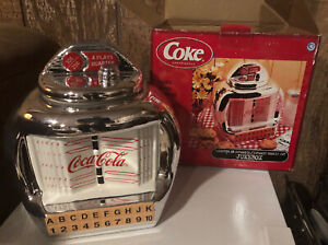 Coca - Cola Juke Box Cookie Jar 2000 Gibson Design Coca-Cola Company NIB
