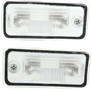 Pair Set Of 2 License Plate Lights Lamps Rear Left And Right Lh