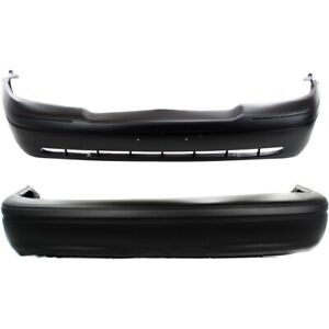 Fo1000422 Fo1100279 Bumper Covers Set Of 2 Front Rear For Crown Victoria Pair