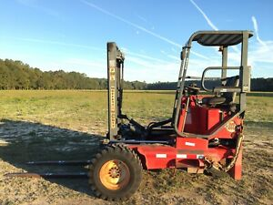 2002 Moffett M8000 W 8000lb Piggy Back Fork Lift 10ft Truck Mounted Forklift