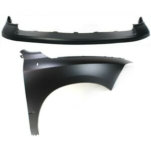 Bumper Cover Fender For 2009 2010 Dodge Ram 1500 Front Right Kit Capa