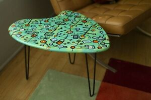 Retro Atomic Mcm Side Table