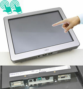 15in 15 Led Professional Pos Monitor Display Fujitsu 3000lcd15 Usb Touch Dvi