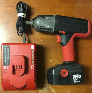 Snap on 18v 1 2 Cordless Impact Wrench Ct4850 W Battery Charger Ctc620 Used