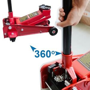 3 Ton 6000 Lbs Floor Jack Steel Low Profile Quick Pump Lifting Car Auto Red Usa