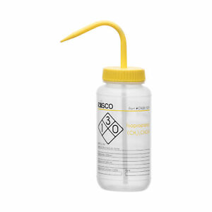 Isopropanol Wash Bottle 500ml Wide Mouth Ldpe Eisco Labs
