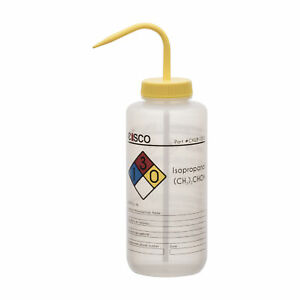 Isopropanol Wash Bottle 1000ml Wide Mouth Ldpe Eisco Labs