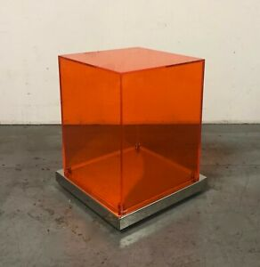 Rare Philippe Starck Orange Plexiglass Table From Clift Hotel