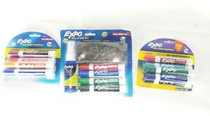 Low Odor Expo Dry Erase Clean Care Kit 12 Markers Nwt Lot